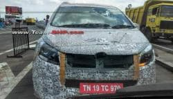 Mahindra's Mystery MPV Spotted Testing With Production Ready Parts