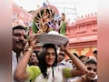 Olympian PV Sindhu Offers Prayers At Hyderabad's Famous Mahankali Temple