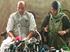 Rajnath Singh, Mehbooba Mufti Address Media: Highlights