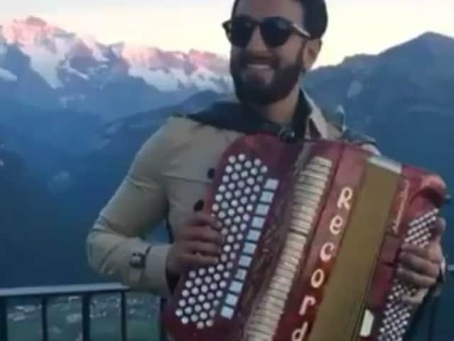 What Happens in Ranveer's Funny Video Shot During Swiss Holiday
