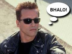 In Which Schwarzenegger's Terminator Says Hasta La Vista in Bengali