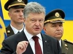 Ukraine's President Strikes Martial Tone On Independence Day
