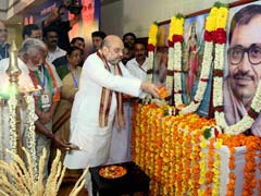 Amit Shah Pays Tribute To Pandit Deendayal Upadhyay In Kozhikode