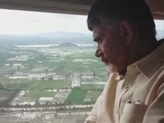 Andhra Pradesh Chief Minister Conducts Aerial Survey Of Flood-Hit Guntur District