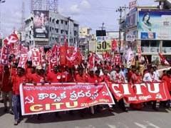 Strike Hits Public Transport And Banking In Telangana, Andhra Pradesh