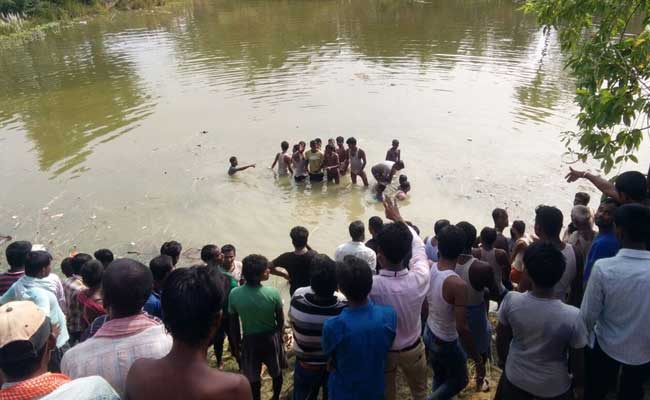 50 feared dead after bus falls into pond in Bihar