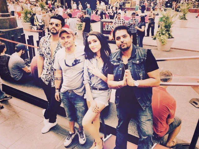 Shraddha and Arjun Bollywood-dancing on New York streets