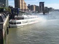 London Leisure Boat Catches Fire, Crashes Into Thames Pier