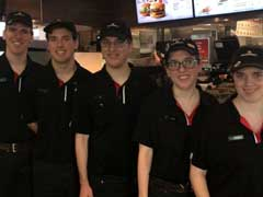 Michigan Quintuplets Work First Jobs Together At McDonald's