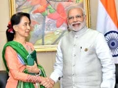 PM Modi Meets State Counsellor of Myanmar Aung San Suu Kyi