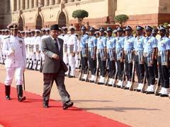 Nepal PM Prachanda Accorded Ceremonial Welcome At Rashtrapati Bhawan