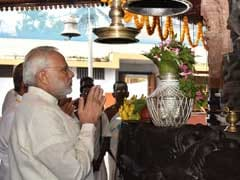 PM Narendra Modi Offers Prayers At Kozhikode's Sreekanteswara Temple