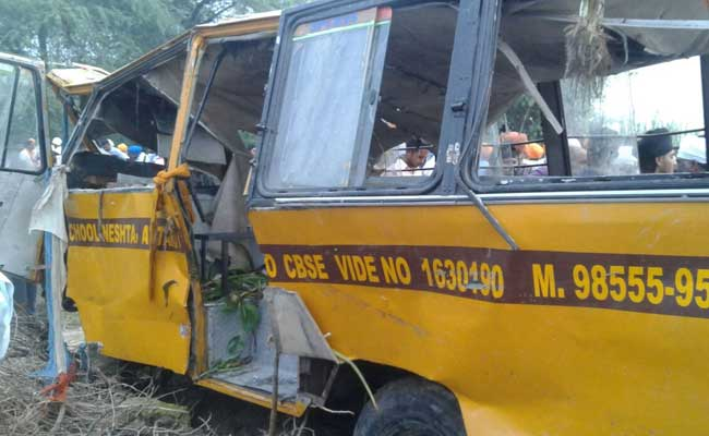 Six children killed as school bus falls in canal in Attari