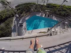 He Dove Into Pool From Balcony Way Above. A Million Views And Counting
