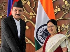 Sushma Swaraj Meets Nepal Foreign Minister