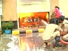Huge Fire At Walmart Store Near Vijayawada, None Hurt