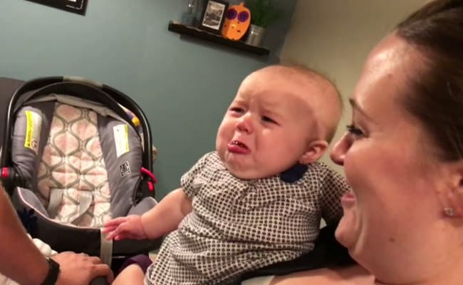 Jealous Baby Has The Cutest Reaction To Her Parents Kissing Each Other