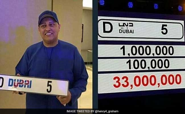 Indian businessman pays Rs 60 crore for unique Dubai number plate
