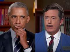On Colbert Show, Barack Obama Bones Up For Post White House Job Interview