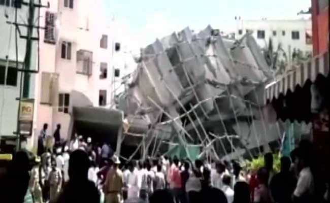 Two dead, three trapped in Bengaluru building crash