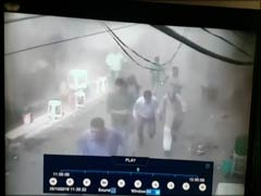 A Cloud Of Smoke, Panic: CCTV Footage Of Blast in Delhi's Chandni Chowk