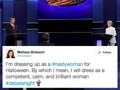 #NastyWoman For Halloween? Twitter Erupts Over Donald Trump's Snipe At Hillary Clinton