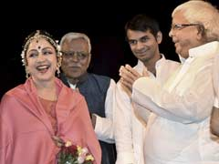 Remember That One-Liner? Now Lalu Yadav And Sons Watch Hema Malini's Show