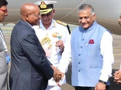 South African President Jacob Zuma Arrives In Goa For BRICS Summit