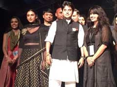 Congress's Jyotiraditya Scindia Walks The Ramp For This Cause