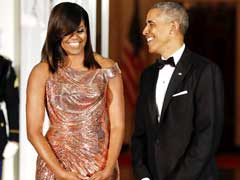 Michelle Obama Shines In Versace At Final State Dinner As First Lady