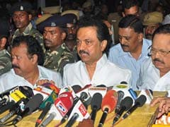 MK Stalin Leads DMK Delegation To Pay Homage To Jayalalithaa
