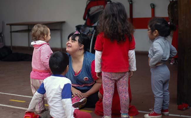 Image result for Argentine woman with Down syndrome inspires as teacher