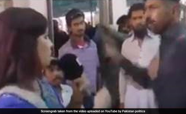 Caught On Camera: Pak Constable Slaps Woman Reporter, Fires Shots In Air