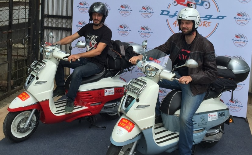 peugeot django 125 scooters ride across india on a journey