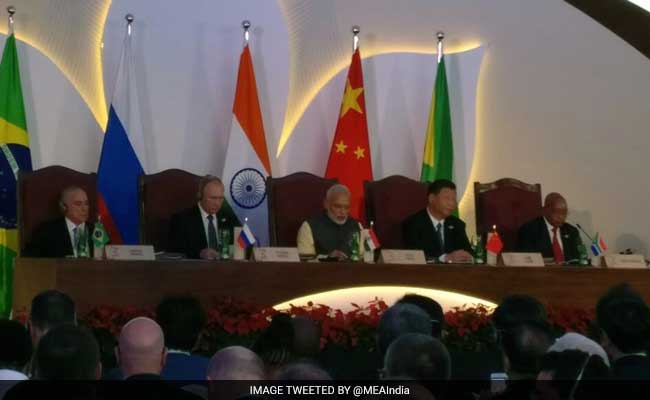 BRICS leaders interact with Bay of Bengal group