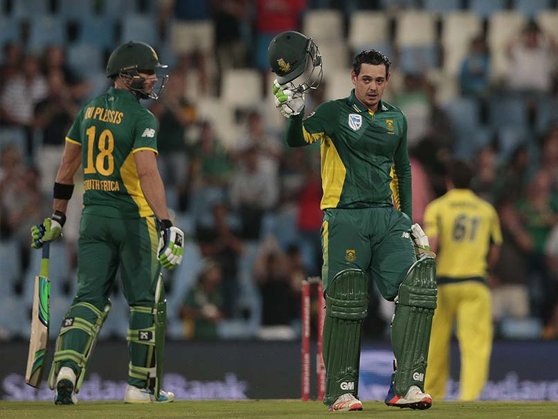 Quinton De Kock's 178 Helps South Africa Ease Past Australia