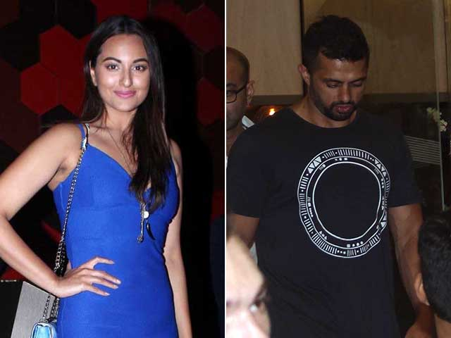 spotted sonakshi sinha with rumoured boyfriend bunty sajdeh at a