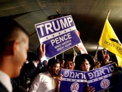 In Hats And T-Shirts, Donald Trump Fans Rally In Jerusalem's Old City