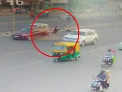 On Camera, Speeding Car Rams 63-Year-Old Woman, Granddaughter In Ahmedabad