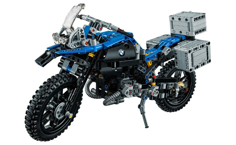 bmw r 1200 gs adventure lego model unveiled ndtv carandbike. Black Bedroom Furniture Sets. Home Design Ideas