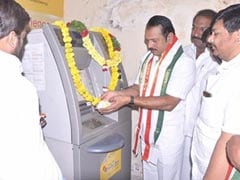 Congress Leader Performs 'Puja' At ATM To Protest Demonetiation Move