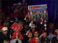 Surprise And Euphoria At Trump Headquarters In New York
