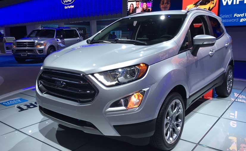 ford ecosport facelift front quarter