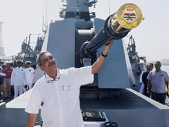 Indigenously-Built Warship INS Chennai Commissioned In Mumbai