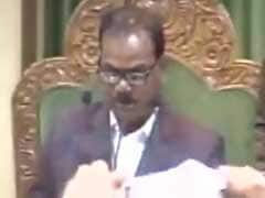 Shoe Hurled At Speaker, Chairs Thrown In Jharkhand Assembly
