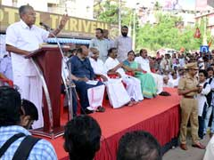 Kerala Chief Minister Leads Protest Against Cash Ban Orders