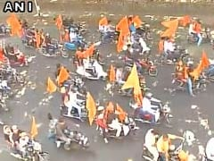Marathas Hold Massive 'Warm Up' Bike Rally In Mumbai