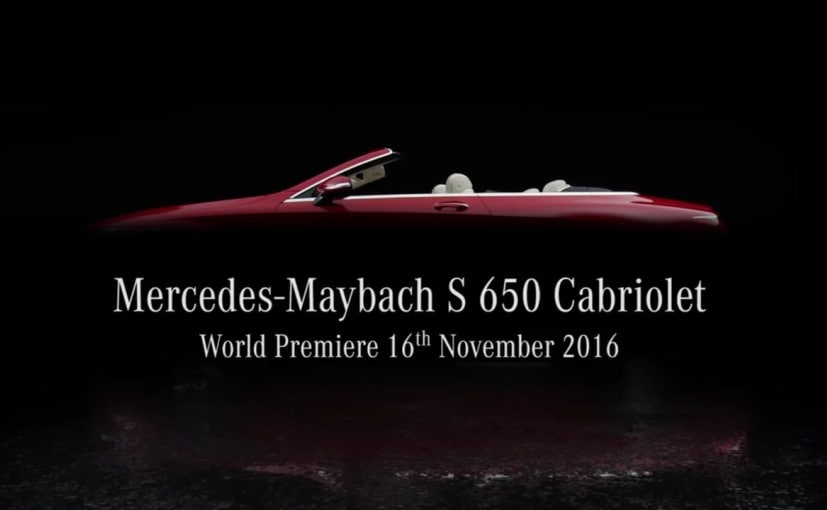 Mercedes-Maybach drops top with limited edition S-class cabriolet