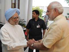 After Fierce Criticism From Dr Manmohan Singh, PM Modi Shakes Hands In Lunch Break