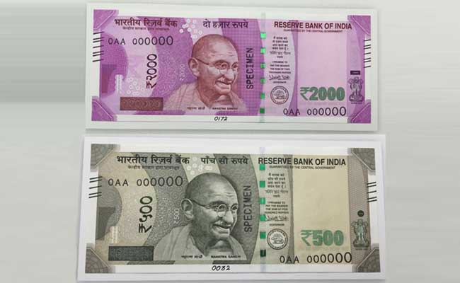 New 500 And 2000 Rupees Note